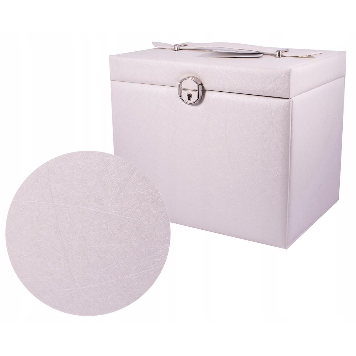 kufrík na bižutériu XL so šuflíkmi bočnicami zrkadlom megamix.sk