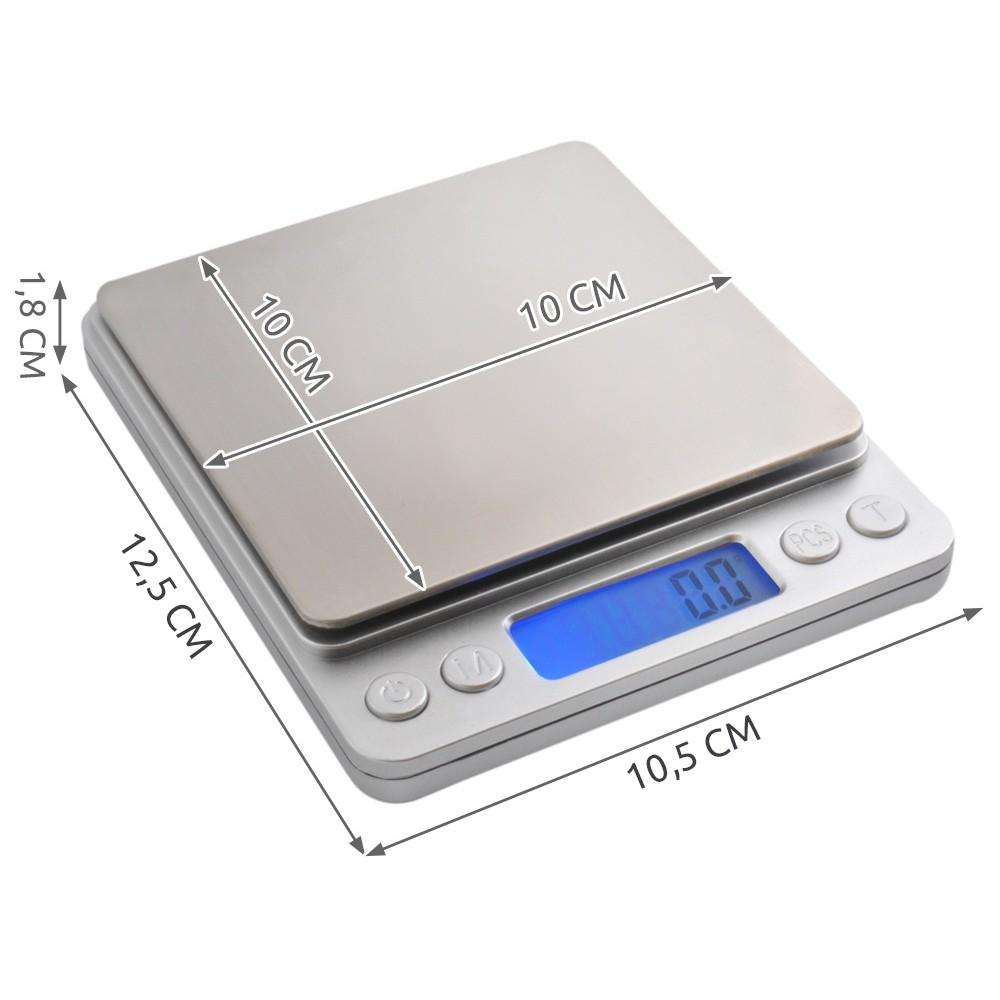 kuchynská váha s presnosťou 0.1g max. 2kg megamix.sk