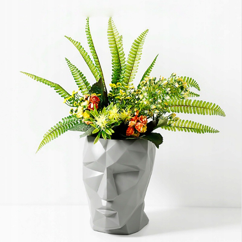 kvetináč dizjan hlavy 12x11x8cm umelá omietka megamix.sk