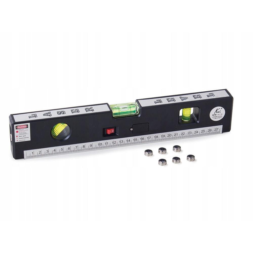 Laserová vodováha LED 31x2,8x6cm pravítko megamix.sk
