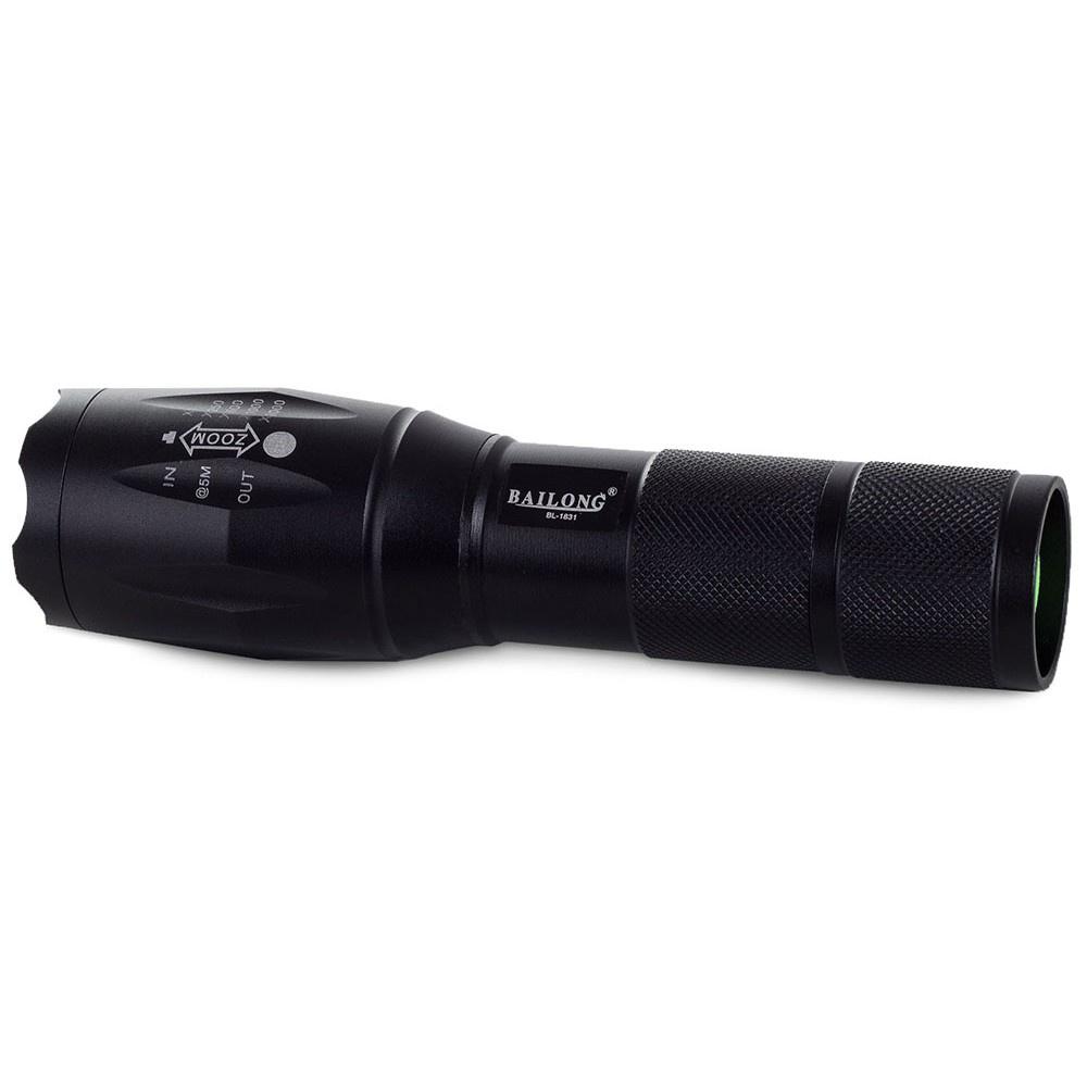 LED baterka ZOOM AAA 13cm čierna taktická megamix.sk