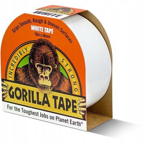 Lepiaca páska biela vodeodolná viacvrstvová 10m 48mm super silná Gorilla megamix.sk