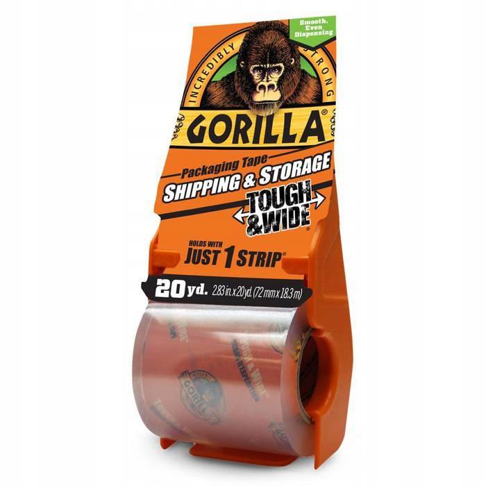 Lepiaca páska priehľadná s držiakom 18m 72mm na balenie Gorilla megamix.sk