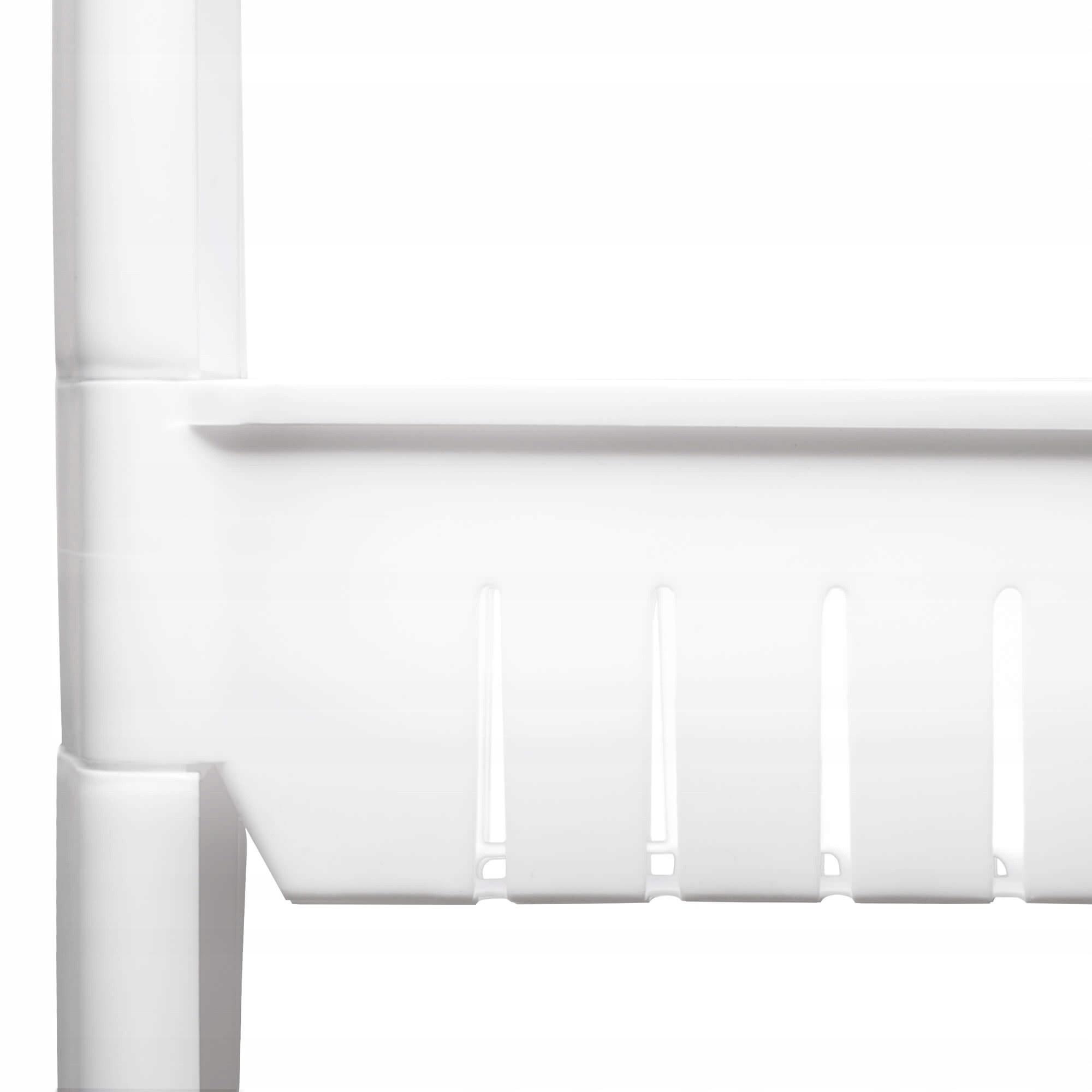 mobilný kúpeľňový stojan biely 4 poschodia 101x54x12cm s kolieskami megamix.sk