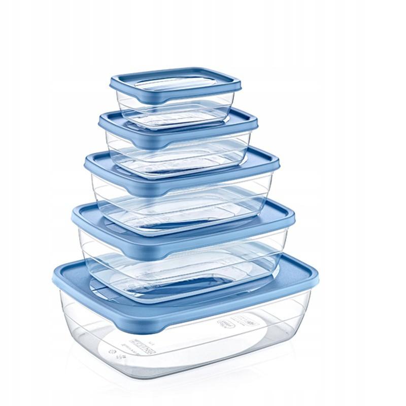 nádoby na jedlo 5ks priehľadné s vekom megamix.sk