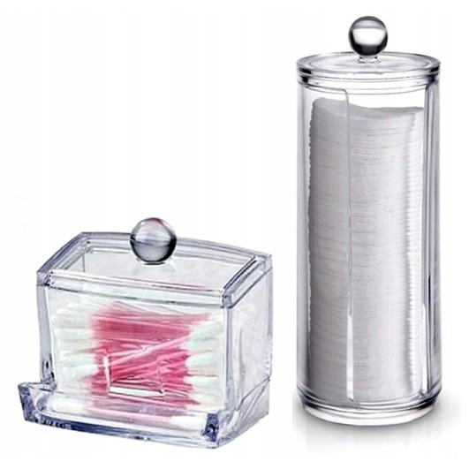 nádoby na tampóny a vatu paličky priehľadné megamix.sk