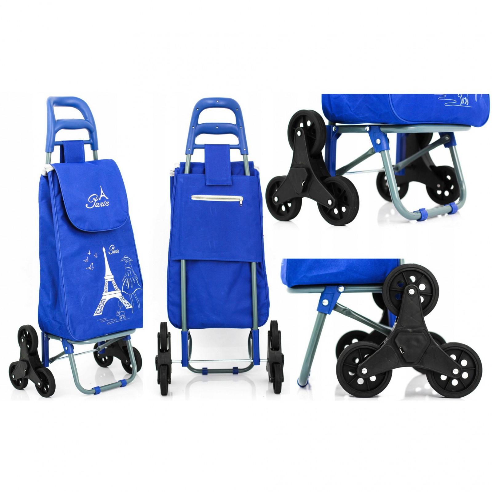Nákupná taška na kolieskach vozík skladaný pevný megamix.sk