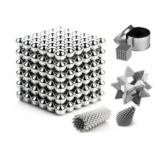 Magnetické bloky guličky magnety 216ks 5 mm + krabička megamix.sk