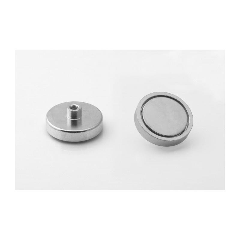 neodymový magnetický úchyt UM 40x8,5xM6 vnútorný x 15,5 megamix.sk