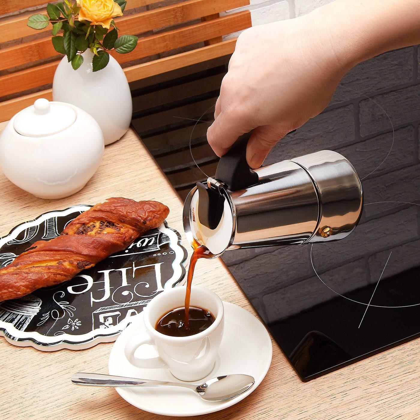 Nerezový espresso kávovar Moderno na 2 šálky megamix.sk