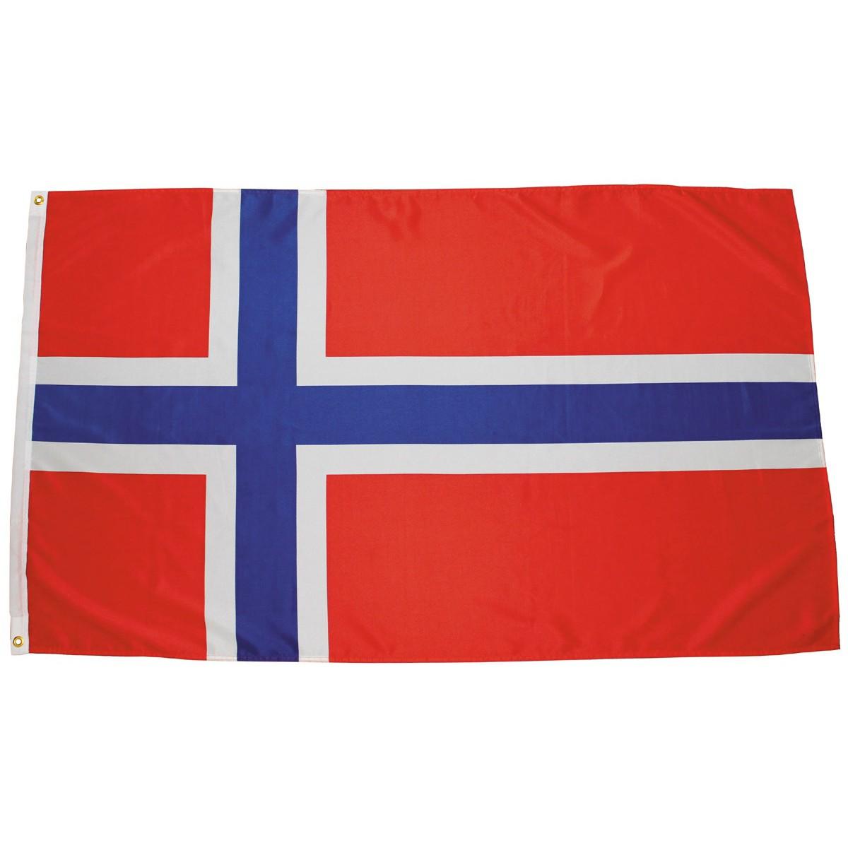 Nórska vlajka Norge 150x90cm obojstranná polyester megamix.sk