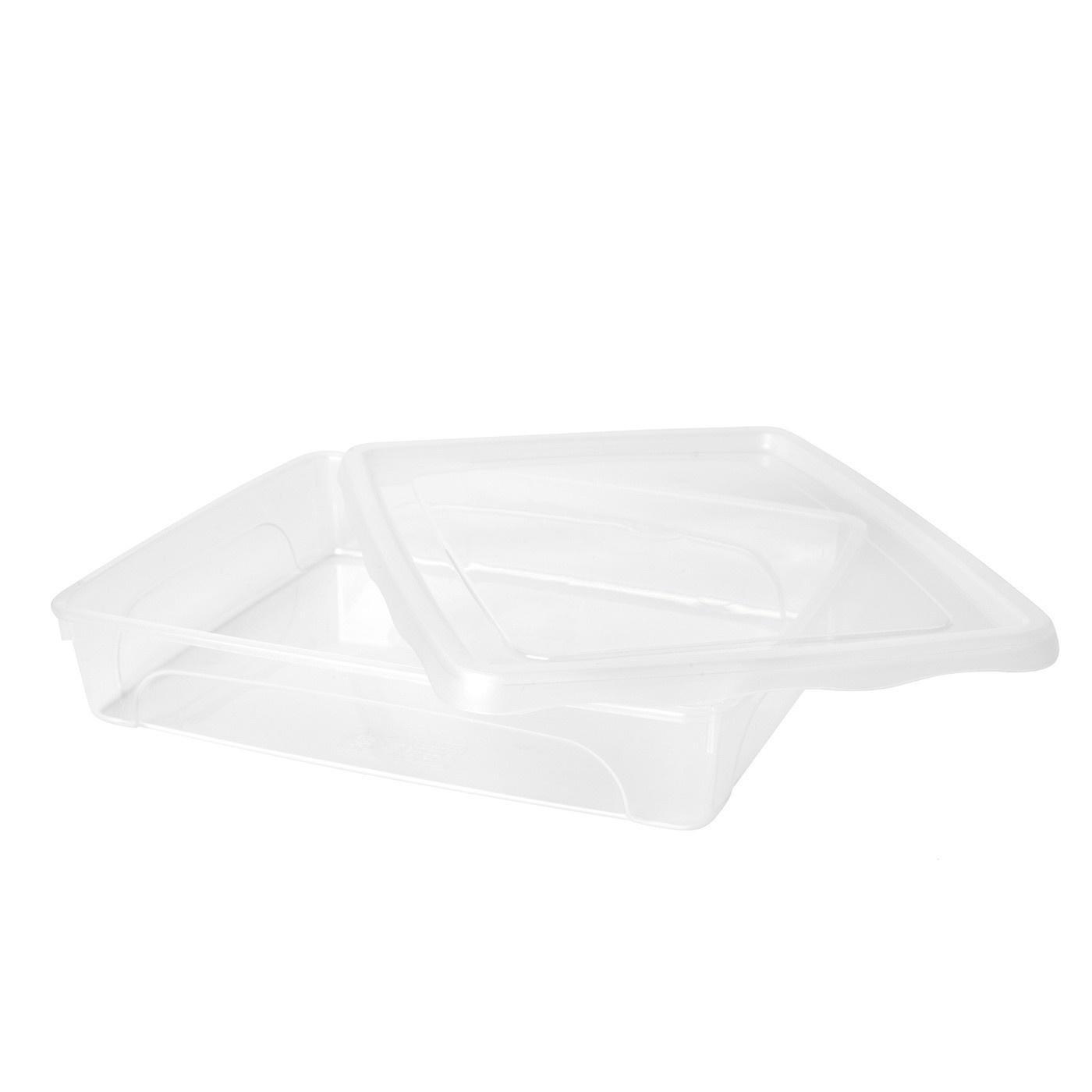 Obdĺžnikový plastový box s vekom Hega 1,5 l megamix.sk