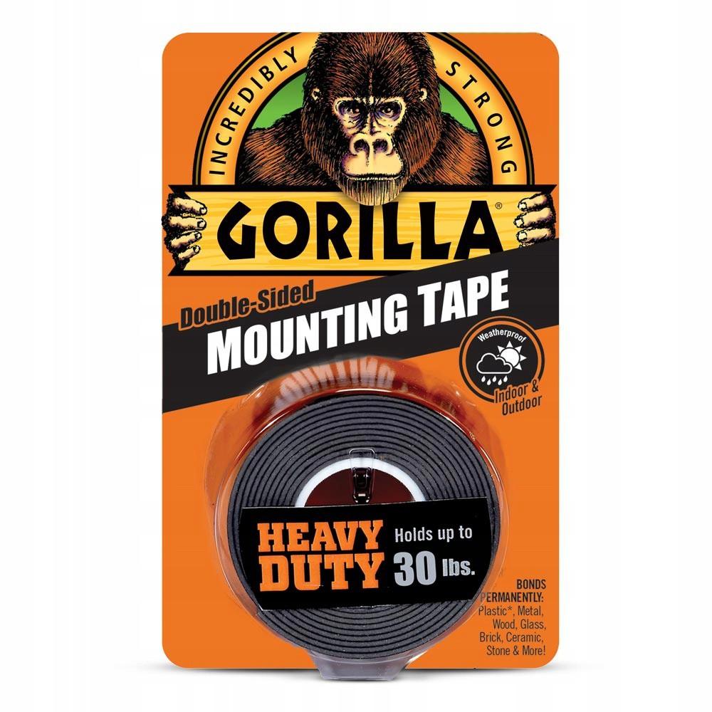Obojstranná lepiaca páska čierna 1,52m 25mm do 14kg Gorilla megamix.sk