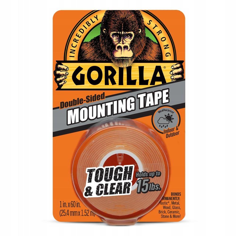 Obojstranná lepiaca páska priehľadná 1,52m 25mm Gorilla megamix.sk