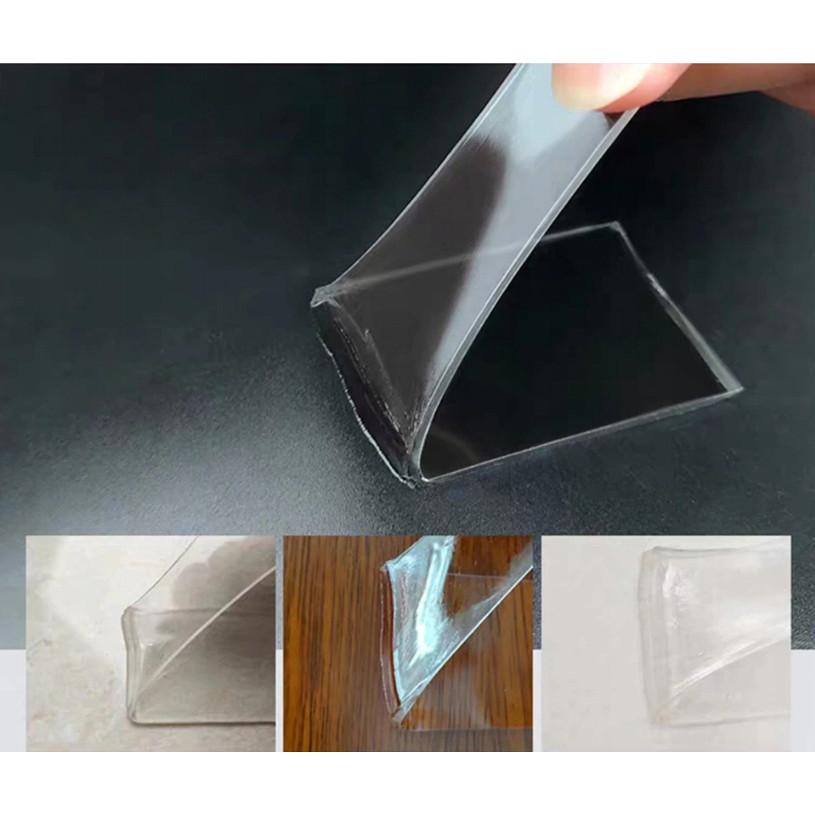 Obojstranná protišmyková páska 5m číra NANO vianásobné použitie megamix.sk