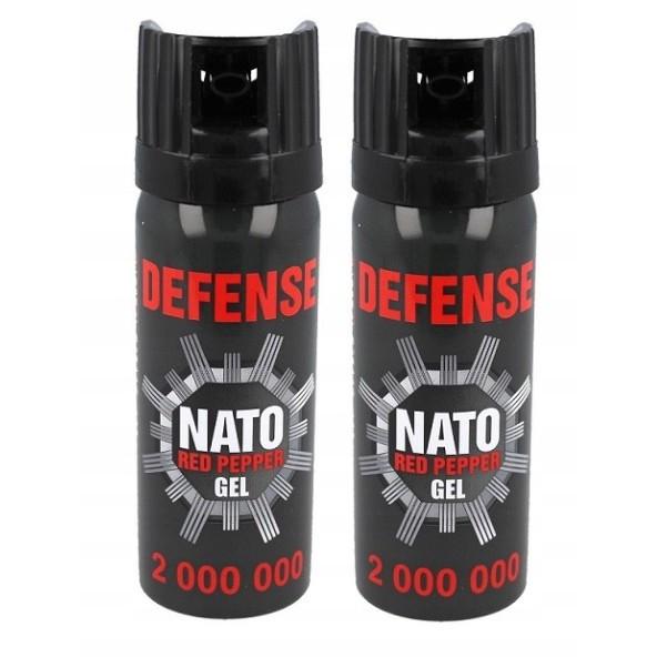 obranný slzný sprej 2ks 50ml NATO Red Pepper megamix.sk