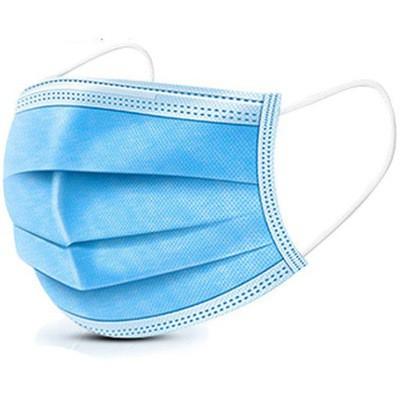 ochranné rúška na tvár rúško maska 50ks 3 vrstvové modré megamix.sk