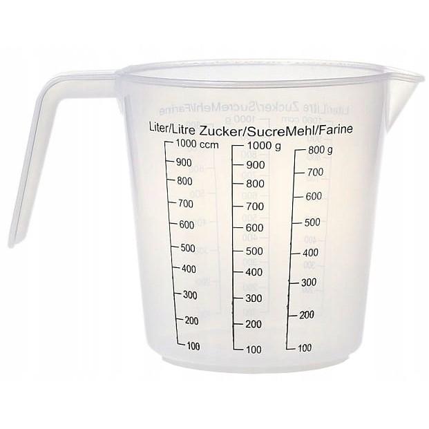 Odmerný džbán kuchynský 1L 13cm megamix.sk