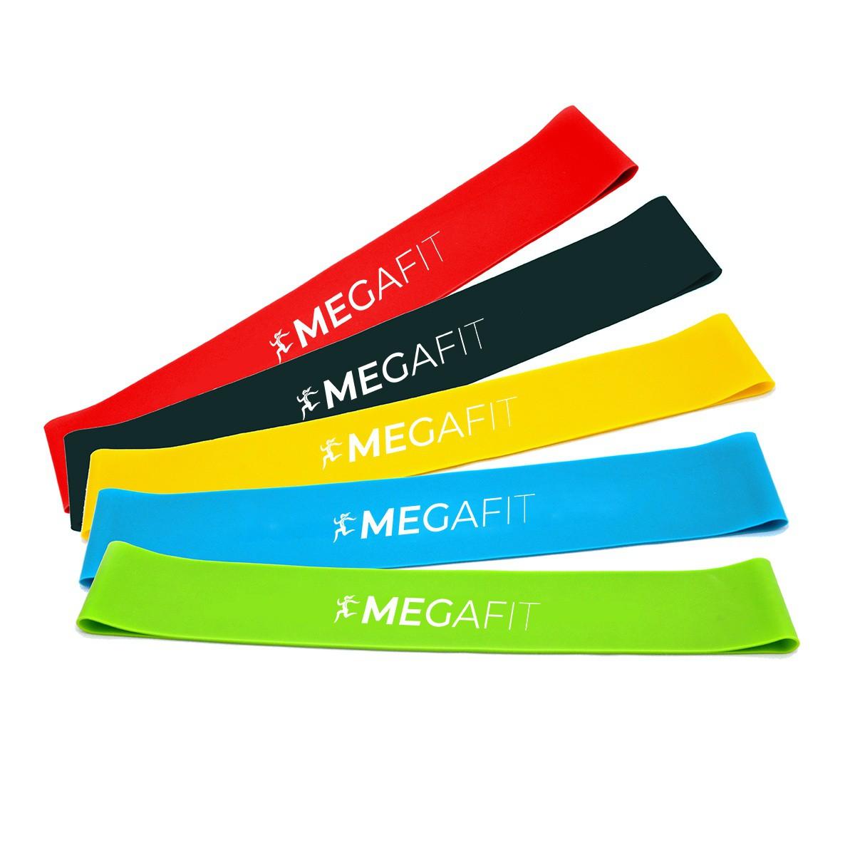 odporové gumy posilňovacie na cvičenie sada 5ks taška megafit megamix.sk