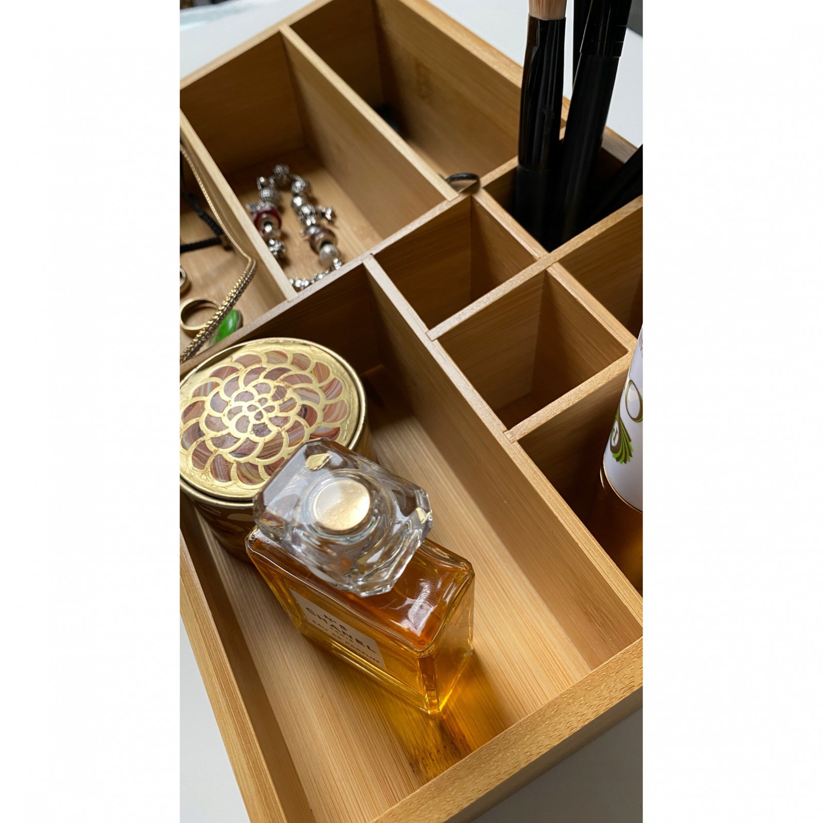 organizér kozmetiky bambusový 33x21x9 cm megamix.sk