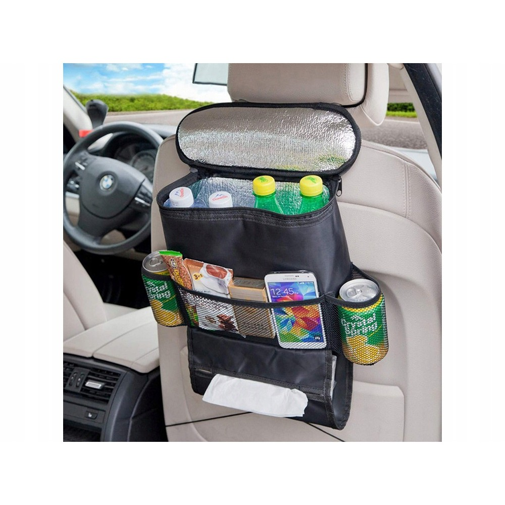 Organizér termotaška do auta na sedadlo 35x28x10cm čierny megamix.sk