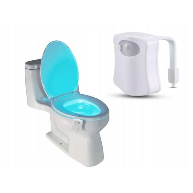 Osvetlenie WC toalety LED so snímačom pohybu megamix.sk