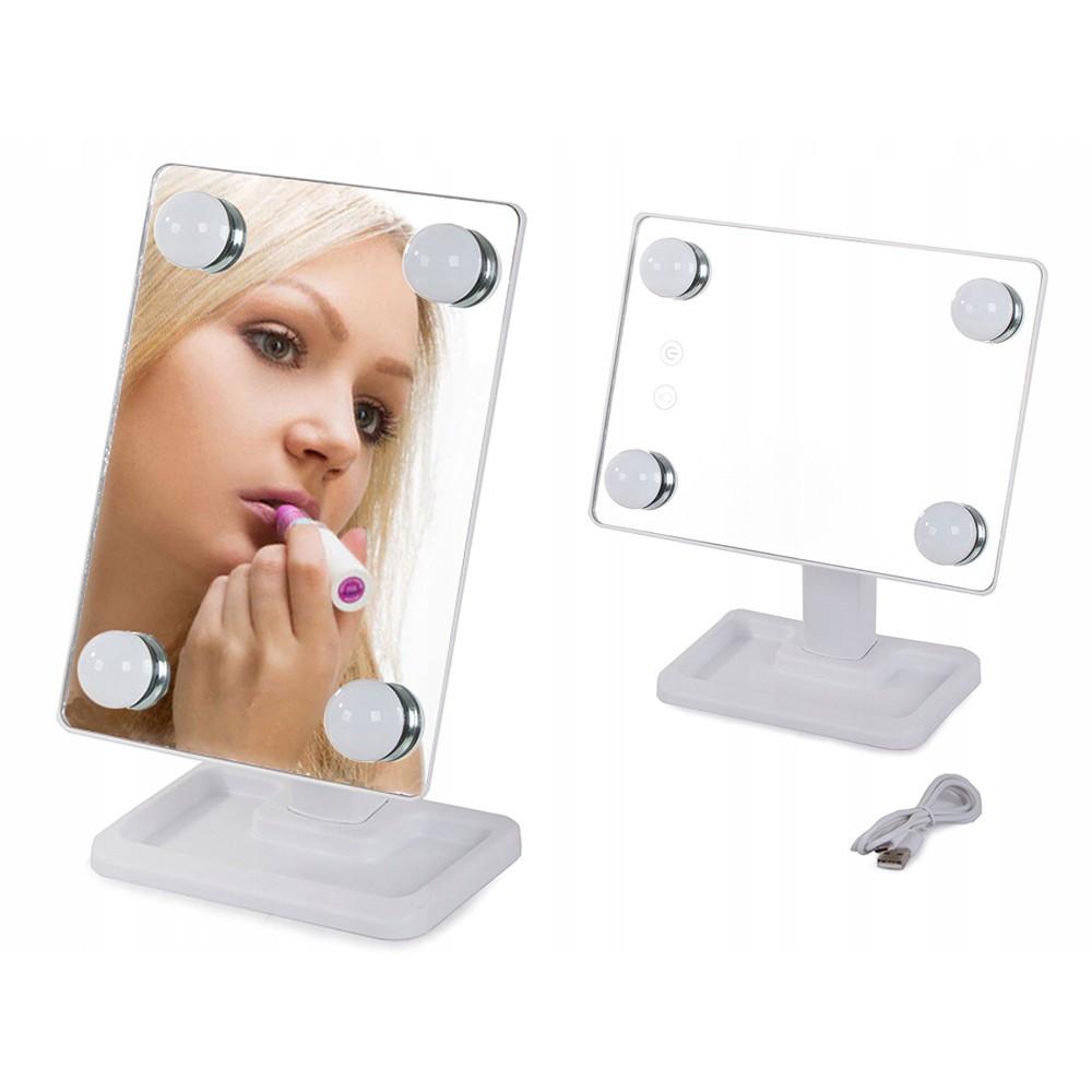 Otočné LED USB zrkadlo 29x18x11cm 180° megamix.sk