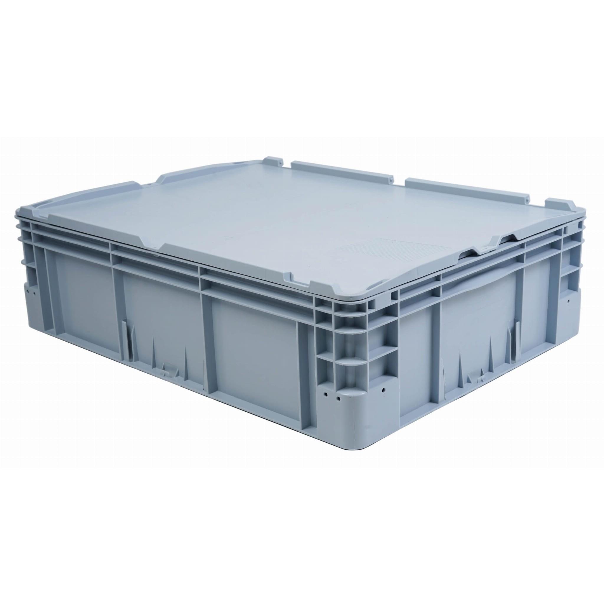 plastová nádoba plná vanička 800x600x220mm 90l šedá megamix.sk