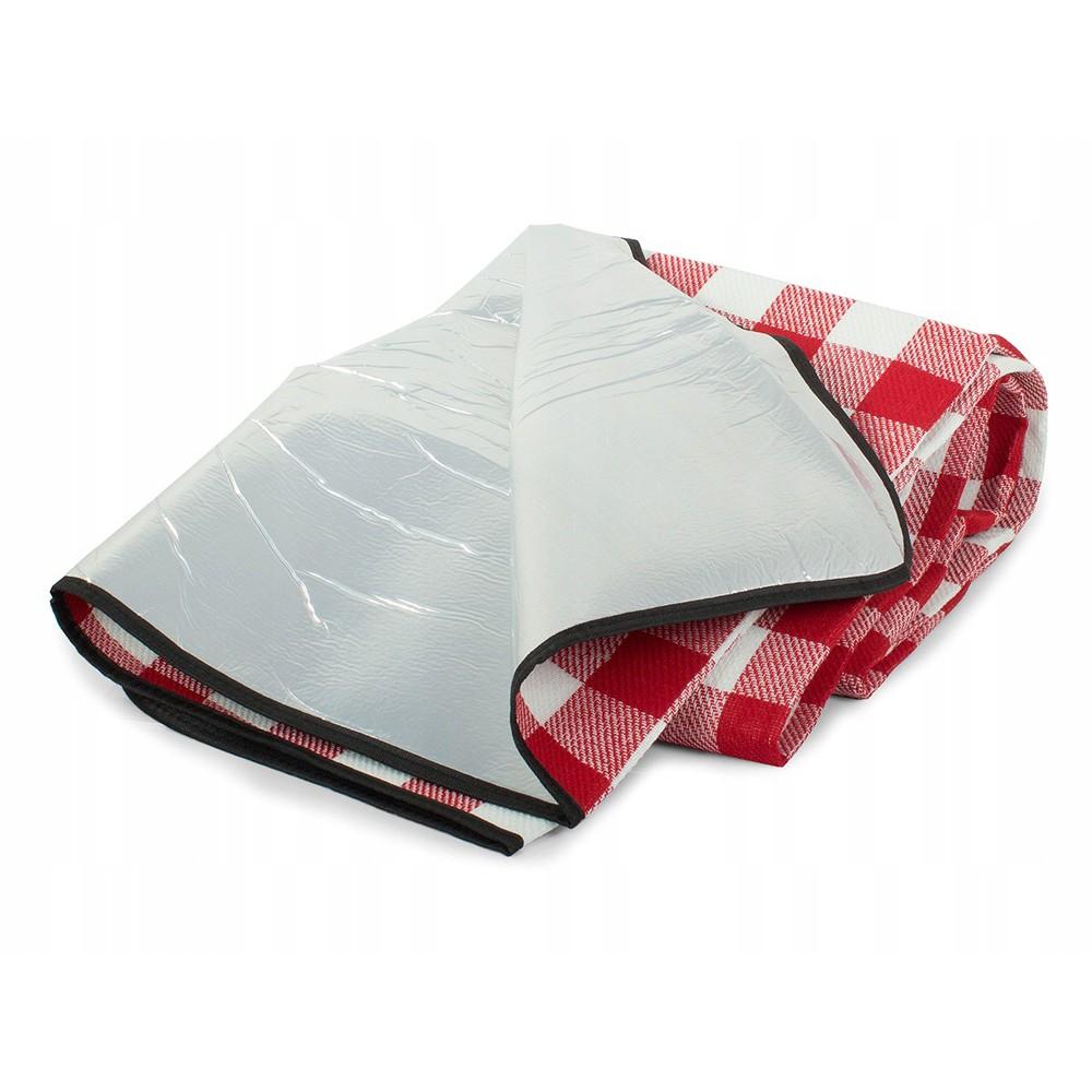 Plážová pikniková deka 150x200cm vodeodolná červená DL03 megamix.sk