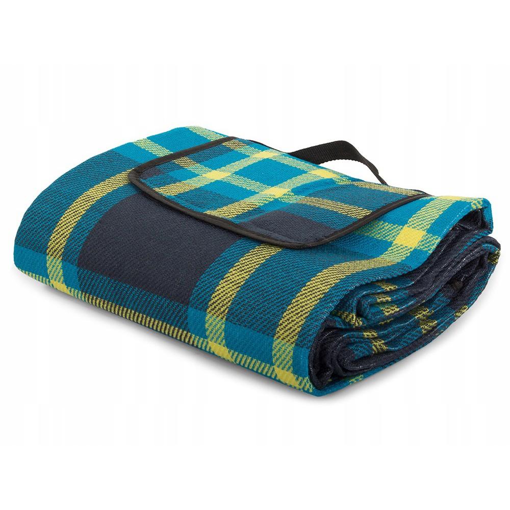 Plážová pikniková deka 150x200cm vodeodolná modrá DL01 megamix.sk