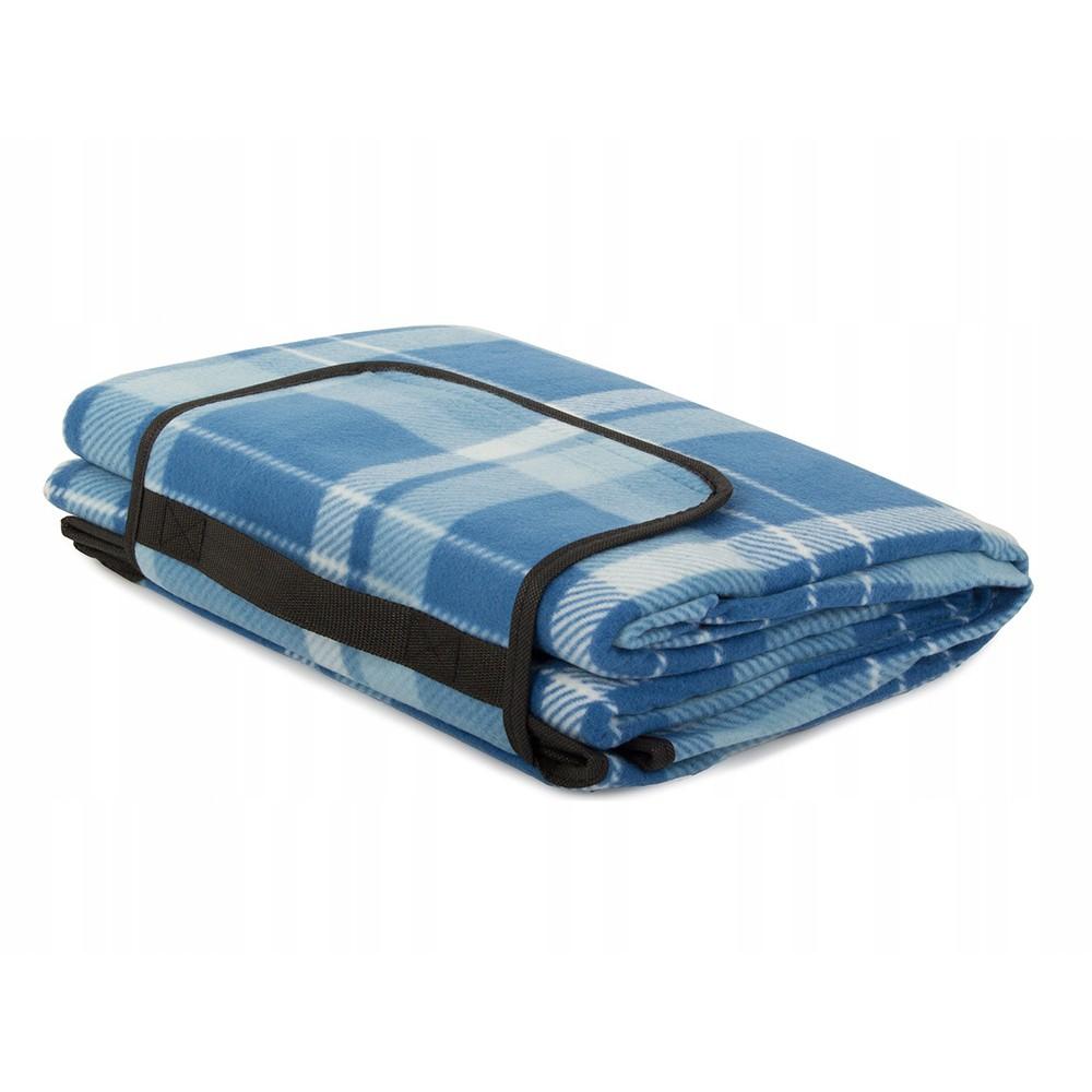 Plážová pikniková deka 150x200cm vodeodolná modrá DL08 megamix.sk