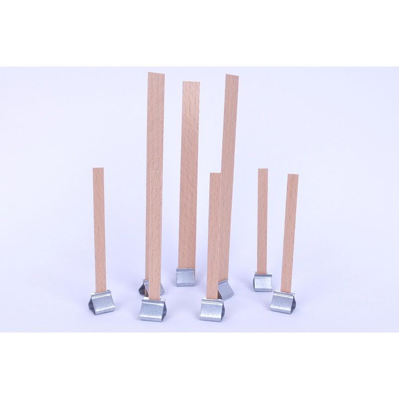 Plechové nožičky na drevené knôty 10ks