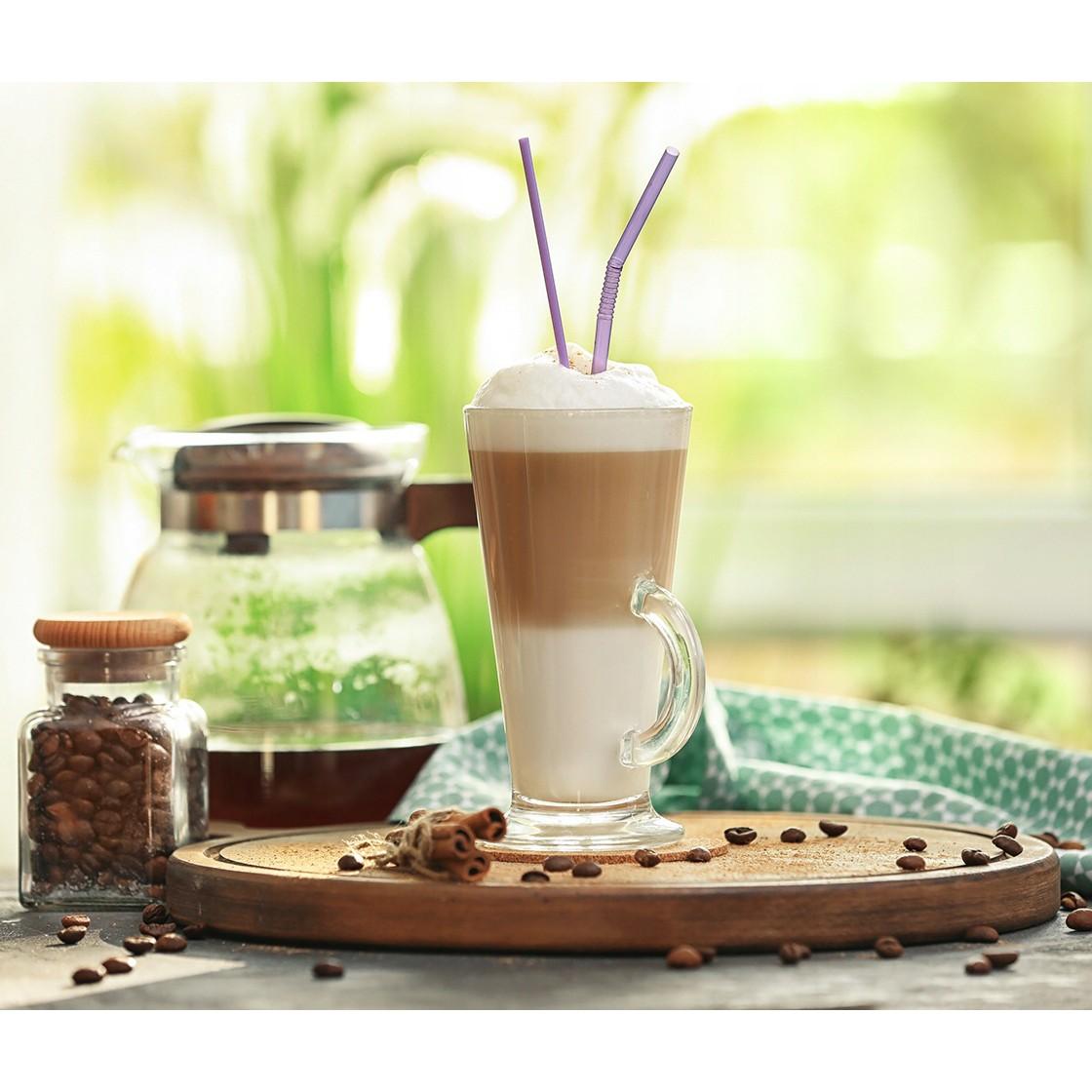 Poháre na latte s uškom sada na kávu 6ks 250ml megamix.sk