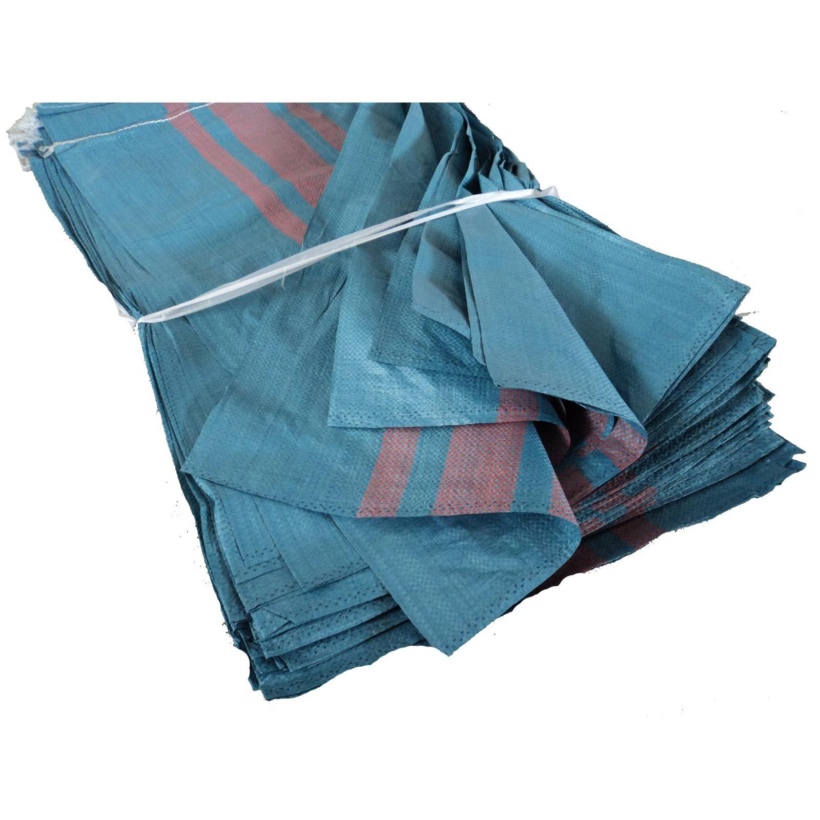 polypropylénové tašky tkané veľké silné 50kg modré 50ks megamix.sk