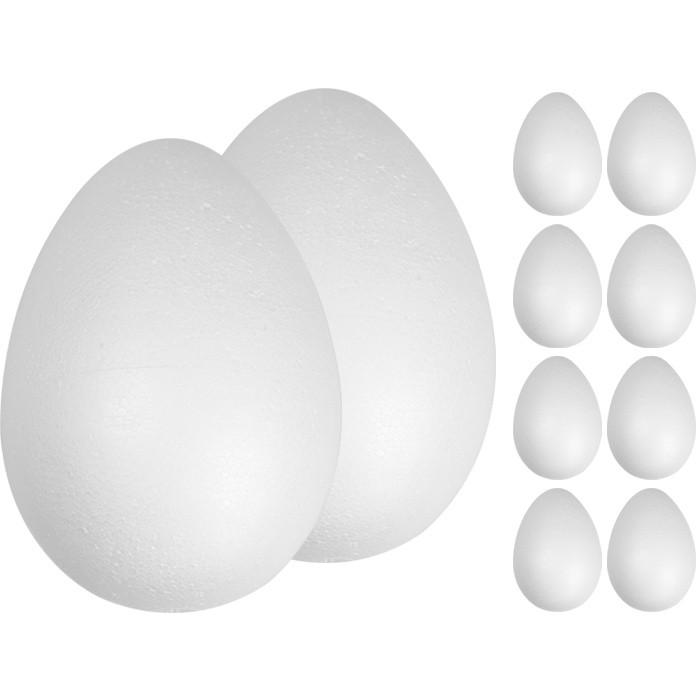 polystyrénové vajce 1ks 10cm zdobenie Veľká noc megamix.sk