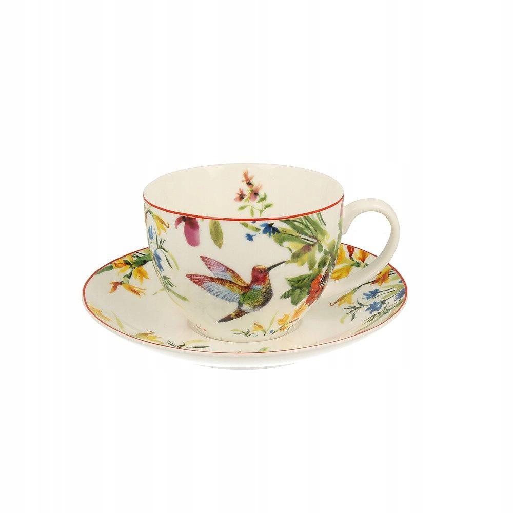 Porcelánová šálka na kávu čaj kvety kolibrík 250ml megamix.sk