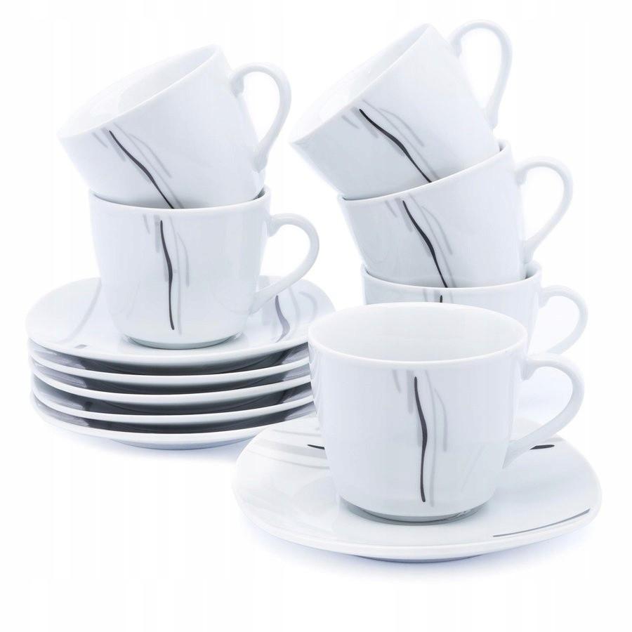 porcelánové šálky na kávu s podšálkami 6ks megamix.sk