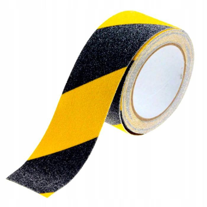 Protišmyková žlto-čierna páska 50mm 5m megamix.sk