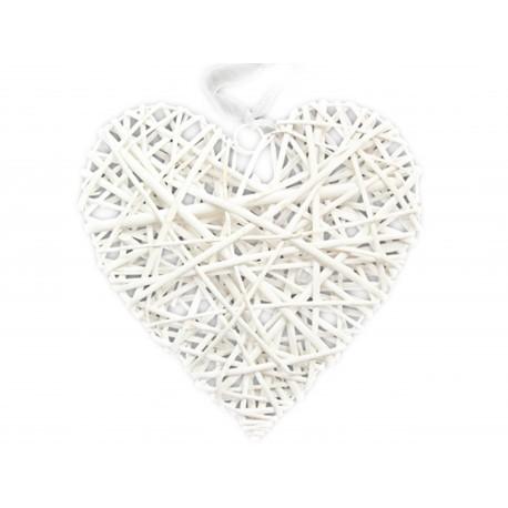 prútené srdce srdiečko biele 40x40cm megamix.sk