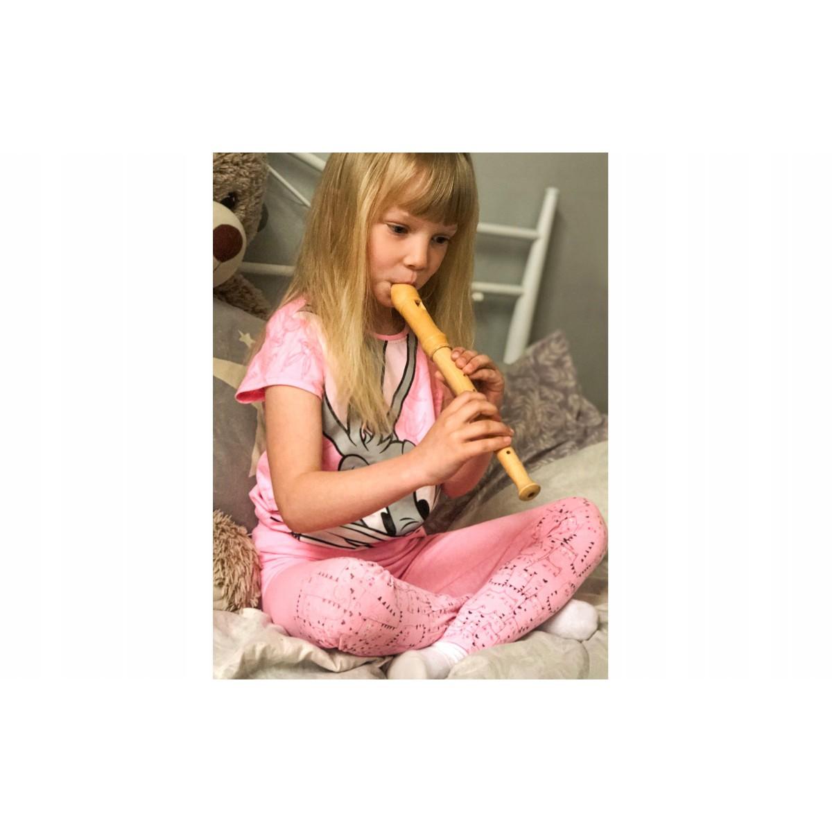 Rovná drevená školská flauta pre deti do školy + čistiaca tyčka megamix.sk