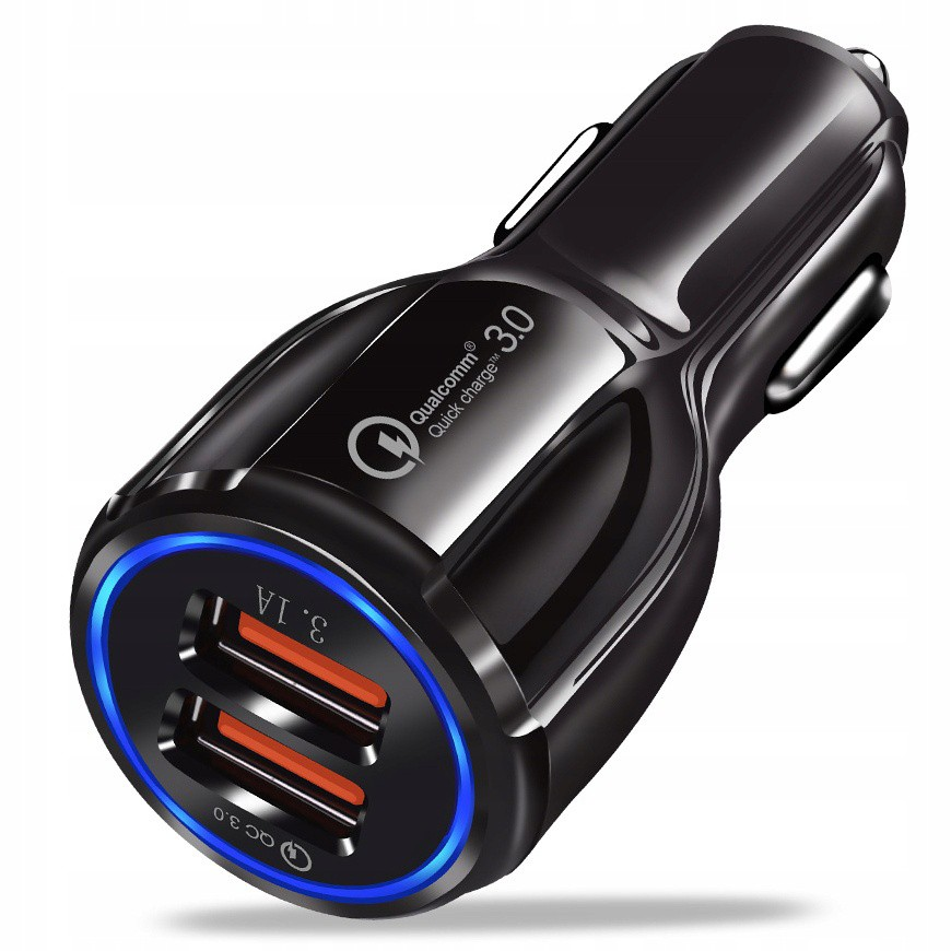 Rýchla 3.1A nabíjačka do auta QUALCOMM QC 3.0 megamix.sk