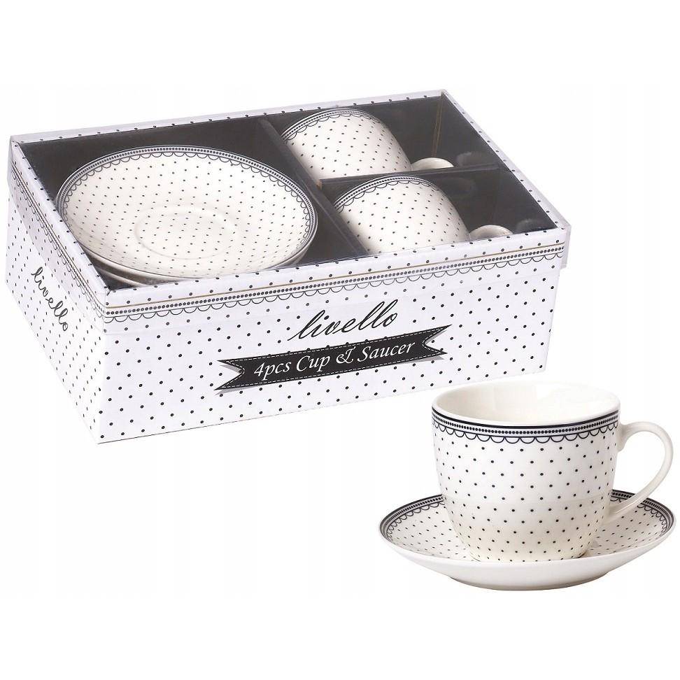 šálky na kávu s tanierikom 250ml 2ks megamix.sk