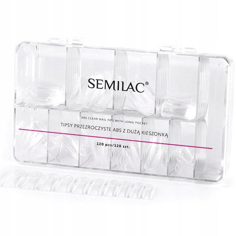 Sada na predĺženie nechtov 120ks Semilac TIPSY CLEAR + lepidlo 7g megamix