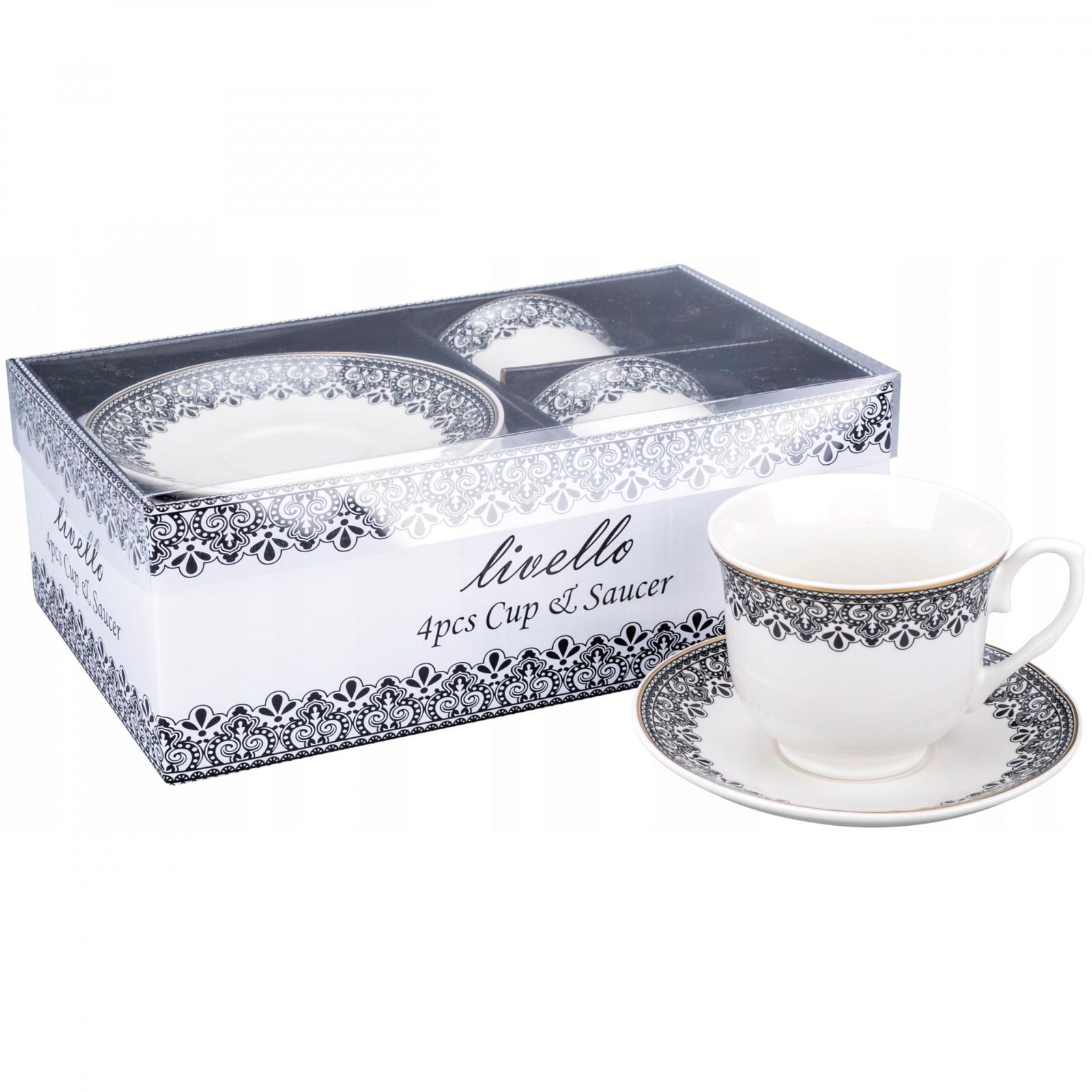 šálky na kávu čaj s tanierikmi 2ks 250ml vzor 41 megamix.sk
