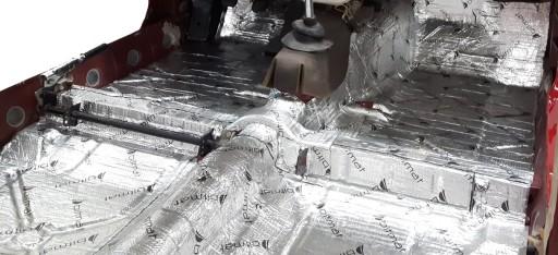 Samolepiaca butylová hliníková rohož 1,5mm 400x50 cm AB-1 + tlakový valec ZADARMO megamix