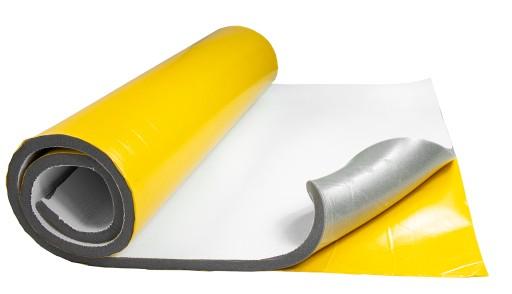 Samolepiaca tlmiaca pena 20mm 100x100cm biela odhlučnenie samozhášavý materiál megamix