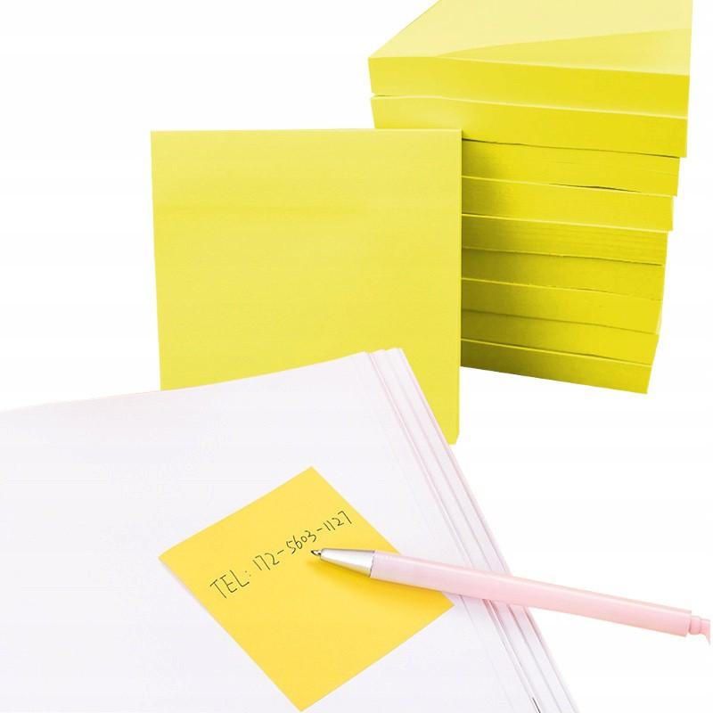 Samolepiaci blok žltý papier 100ks 76x76mm megamix.sk