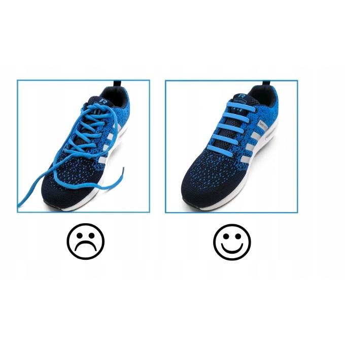 silikónové šnúrky do topánok bez viazania mix fariebá megamix.sk