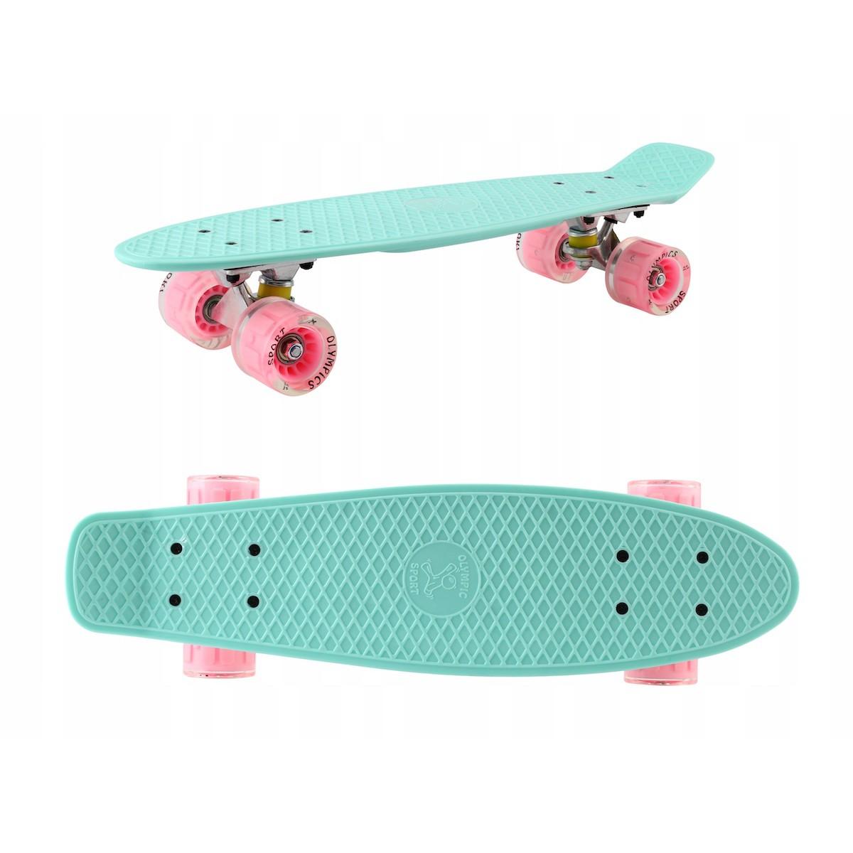 Skateboard 56cm LED svetlá podsvietené kolesá megamix.sk