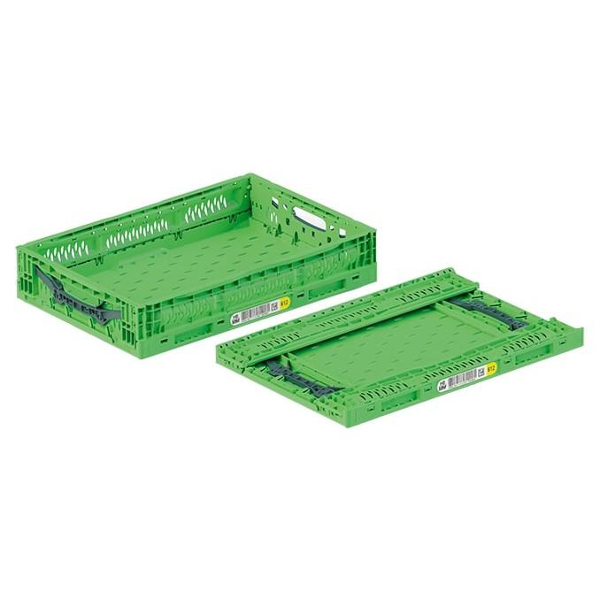 skladacia plastová nádoba prepravka 600x400x120mm 32l zelená na čerstvú zeleninu ovocie megamix.sk